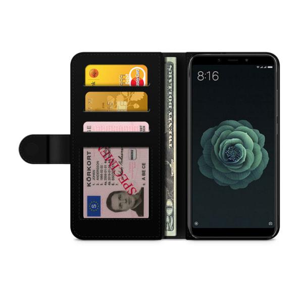 Bjornberry Xiaomi Mi A2 Fodral - Violettblommor