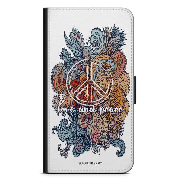 Bjornberry Xiaomi Redmi Note 9 Fodral - Love and Peace