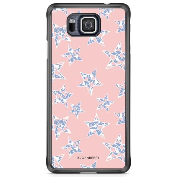 Bjornberry Skal Samsung Galaxy Alpha - Rosenkvarts Stjärnor