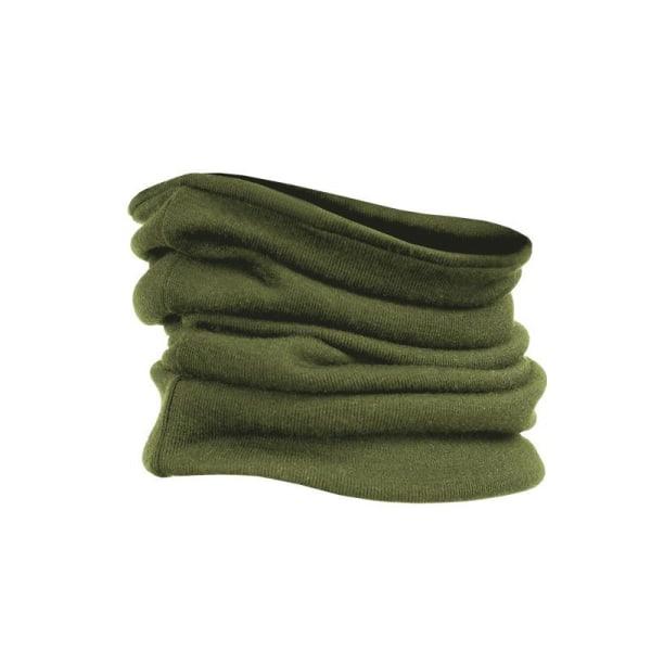 Tubhalsduk av merinoull Grön