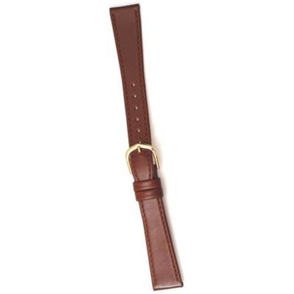 Klockarmband 20 mm  äkta läder XL guldspänne