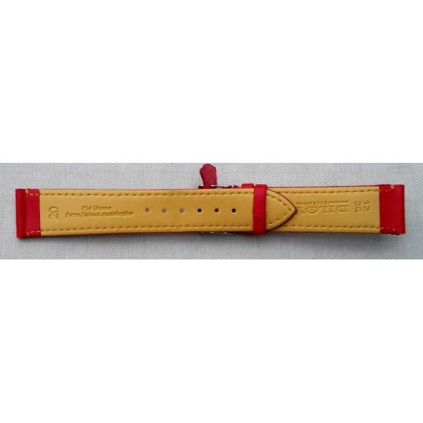 Rött mjukt läderband 16/18/20 mm 16 mm