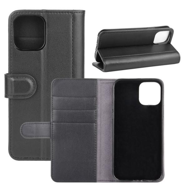 Äkta Läderfodral iPhone 12/12 Pro Svart