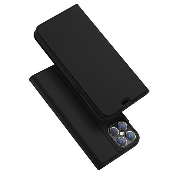 Dux Ducis Skin Pro Läderfodral iPhone 12 Pro Max Svart