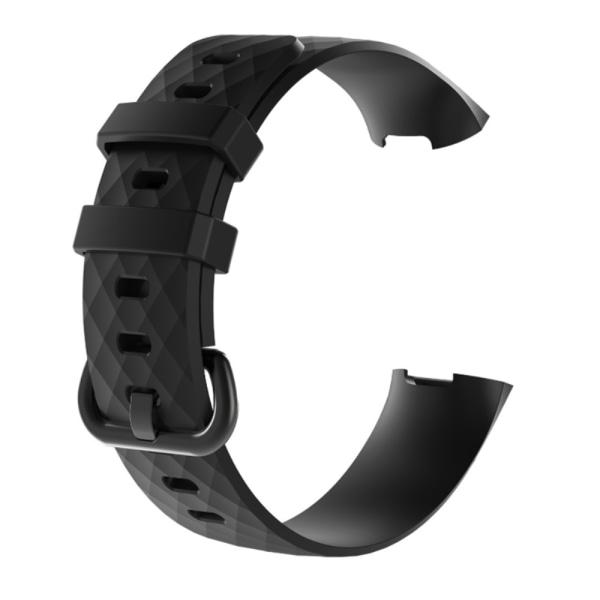 Silikonarmband Fitbit Charge 3/4 Svart (S) S