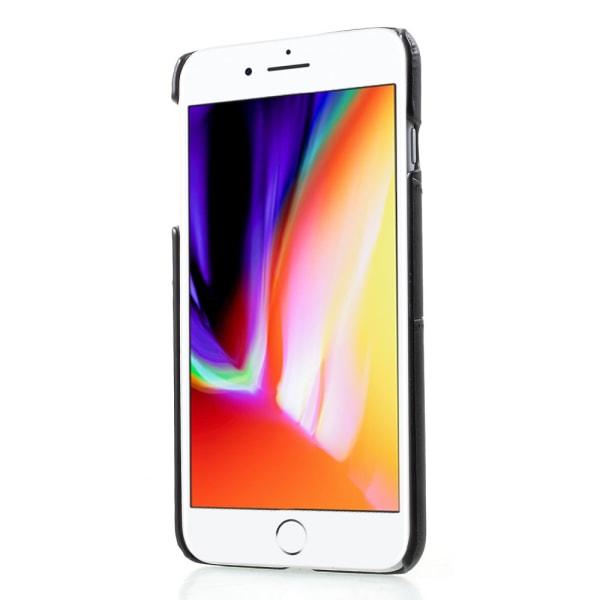 Korthållare Läderskal iPhone 7/8 Plus Svart