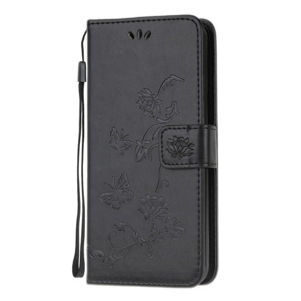Läderfodral Fjärilar Samsung Galaxy S20 Svart