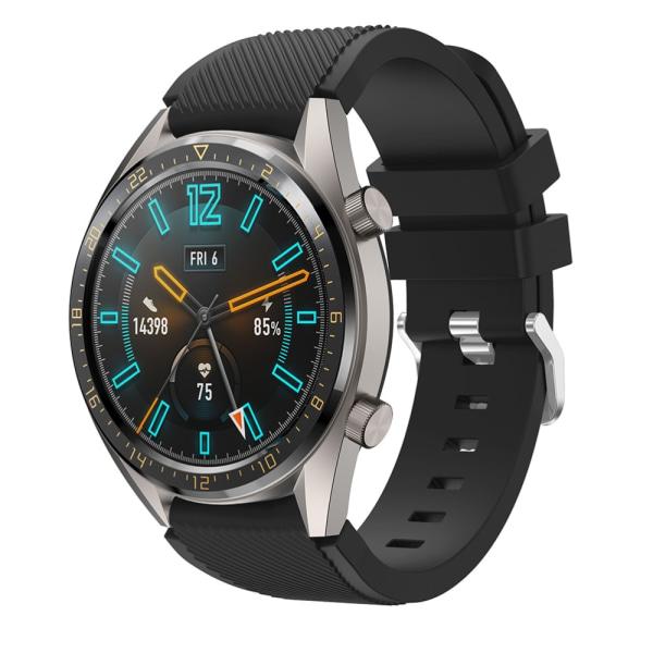 Silikonarmband Huawei Watch GT/GT 2 46mm/GT 2 Pro Svart