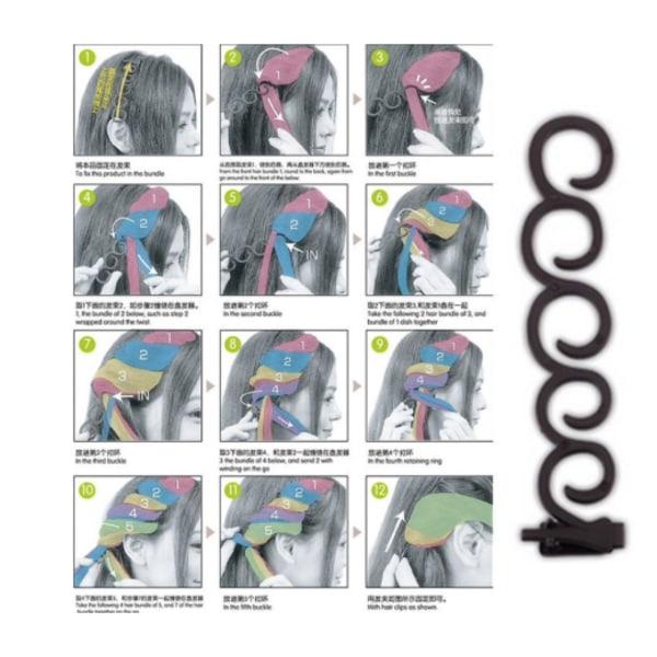 2 pack hjälpmedel till håruppsättning Svart