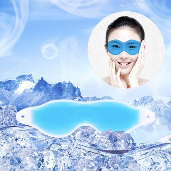 2 pack kylande ögonmask med gele sovmask spa  blå/turkos
