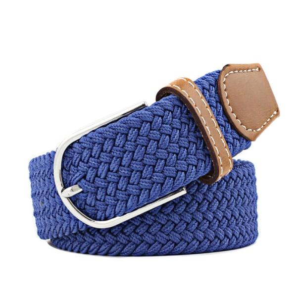 Bälte canvas tyg 26 färger storlek W26 - W36 skärp kläder - 12 Blå / kornblå one size