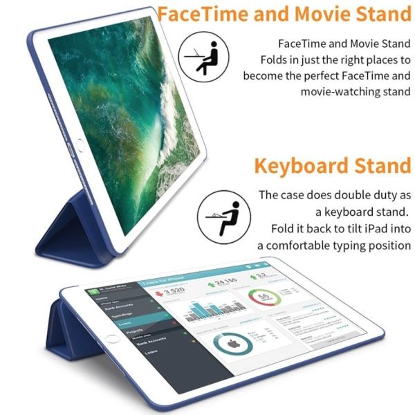 Alla modeller iPad fodral Air/Pro/Mini silikon smart cover case- Svart Ipad Pro 9.7