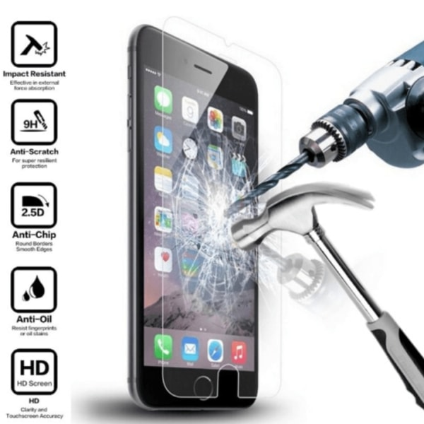 2st skärmskydd åt iPhone modeller 6/7/8/X/XS/11/12/SE pro/max - transparent Iphone 6