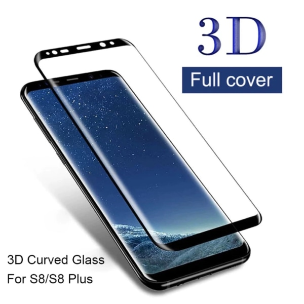 Skärmskydd Samsung S21/S21+/S9/S9+/S8/S8+/S7Edge skal Galaxy - Transparent med svart ram SAMSUNG S8 PLUS