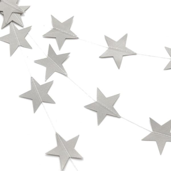 4 meter girlang stjärnor  silver