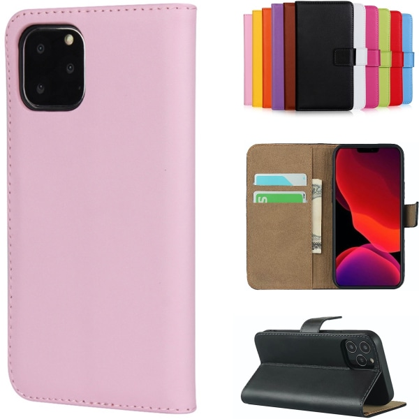 iPhone 12/12 Pro plånboksfodral plånbok fodral skal skydd rosa - Rosa iPhone 12 / 12 Pro