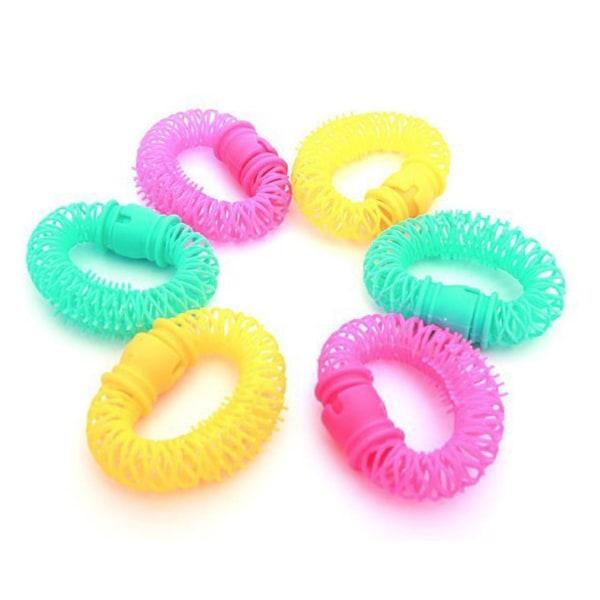 8-pack hårspolar till lockigt hår, frisyr vågigt lockar spolar blandade färger
