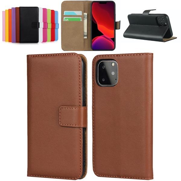 iPhone 11 plånboksfodral plånbok fodral skal skydd kort brun - Brun iPhone 11