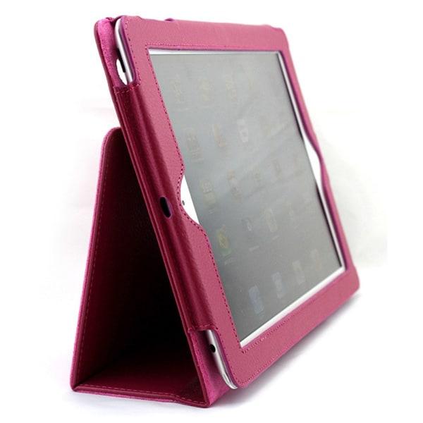 För alla modeller iPad fodral/skal/air/pro/mini urtag hörlurar - Mörkrosa / cerise Ipad Air 1/2 & Ipad 9,7 Gen5/Gen6