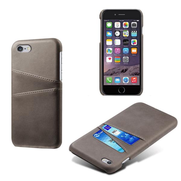 Iphone 7 Plus 8 Plus + skydd skal fodral kort visa mastercard - Grå iPhone 7+/8+