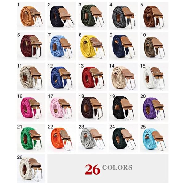Bälte canvas tyg 26 färger storlek W26 - W36 skärp kläder - 5 Brun / Terracotta one size