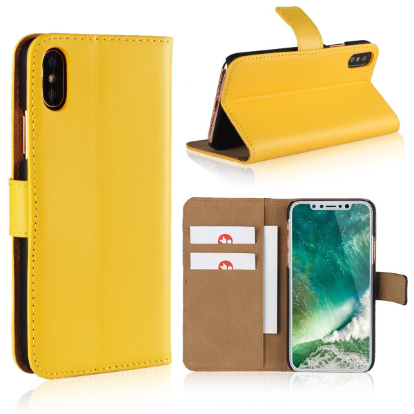 Iphone x/xs/xr/xsmax plånbok skal fodral - Gul Iphone XR