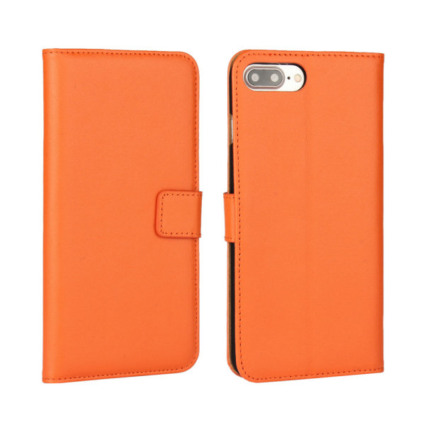 Iphone 6/6s/6+/6s+/7/7+/8/8+ plånbok skal fodral - Orange iPhone 6/6s