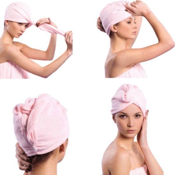 Handduk till hår håret microfiber torkar snabbt och smart Flera färger