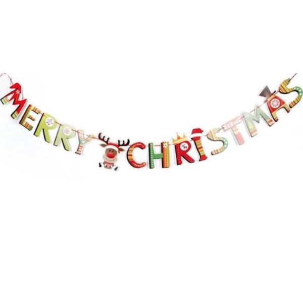 Girlang merry christmas 2.5 meter Flerfärgad