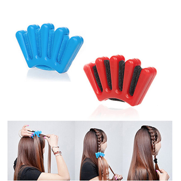 Hjälpredskap till flätning av hår, fläta, frisyr, barn verktyg Flera färger