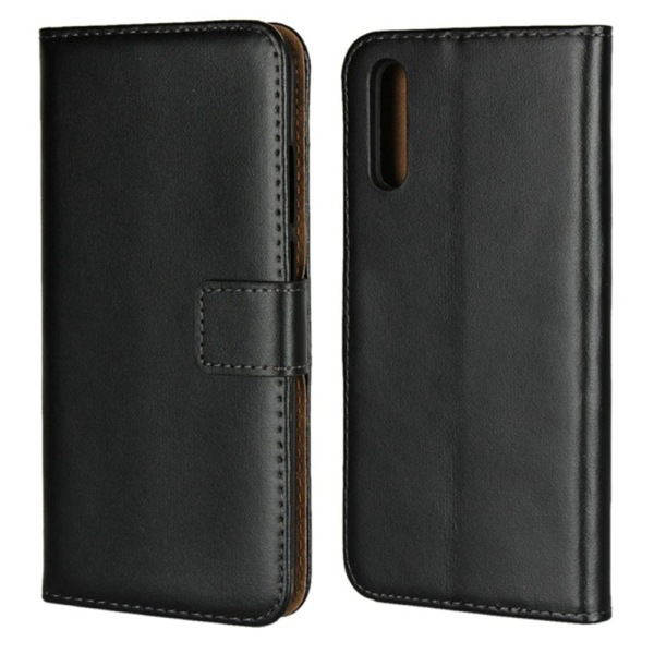 Huawei P20/P20Pro/P20lite plånbok skal fodral kort fack svart - Svart P20 Pro