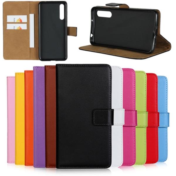 Huawei P20/P20Pro/P20lite plånbok skal fodral kort fack grön - Grön P20 Pro
