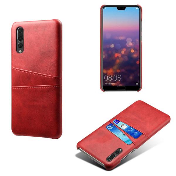 Huawei P20 Pro skal kort - Mörkbrun Huawei P20 Pro
