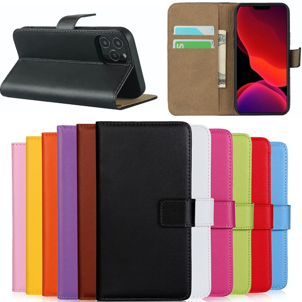 Iphone 11/11Pro/11ProMax plånbok skal fodral väska skydd kort - Svart iPhone 11 Pro Max