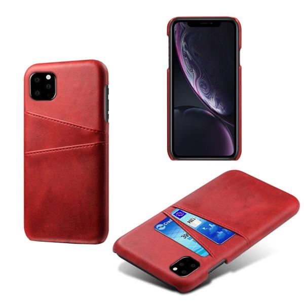 Korthållare Iphone 11 Pro skal mobilskal hål laddare hörlurar - Mörkbrun iPhone 11 Pro