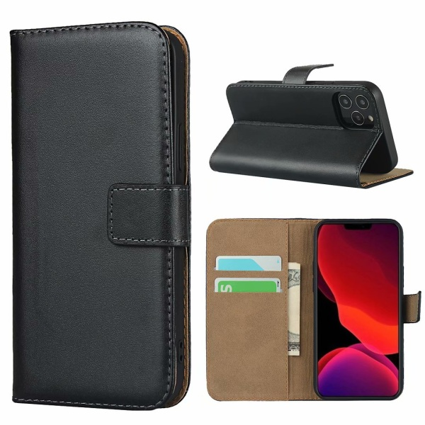 Iphone 12/12Pro/12ProMax/12Mini/SE gen2 plånbok skal fodral - Svart 12ProMax