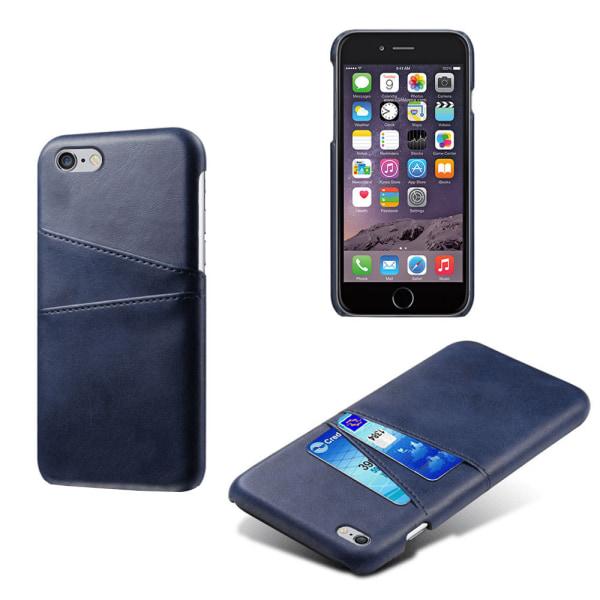 Iphone 6/6s skydd skal fodral kredit kort visa amex mastercard - Röd iPhone 6/6s