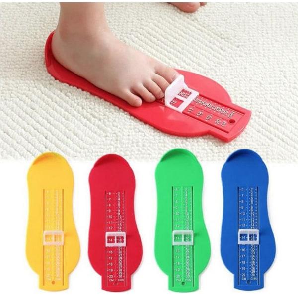 Mätredskap fötter skor skostorlek måttband mäta storlek barn - allmoge, blå / grön