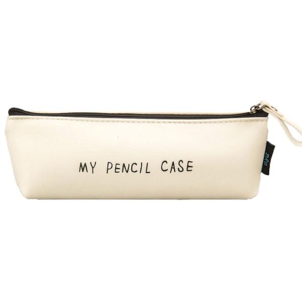 Pennskrin pennfodral pennor förvaring skola skolstart, vitt vitt 18*6,5*3,5cm