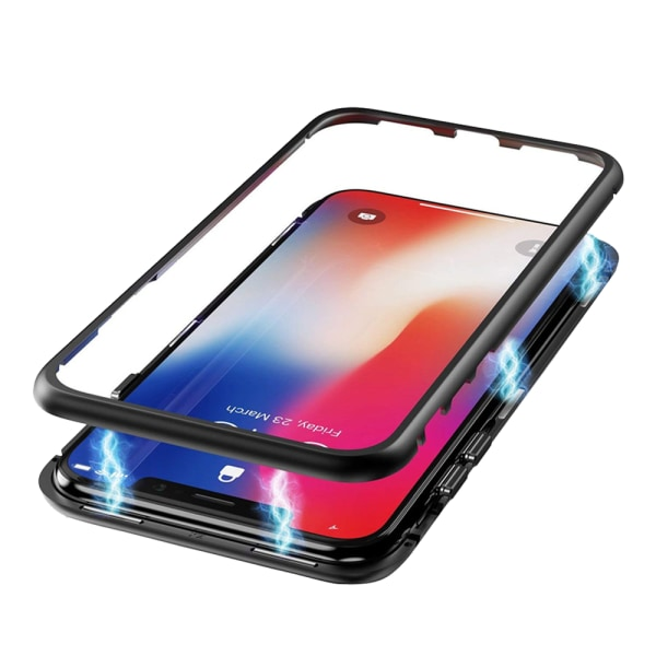 Qi ladda magnet skal fodral iphone 7/7+/8/8+/X/XS/XSMax/XR - Svart Iphone 7/8 plus +