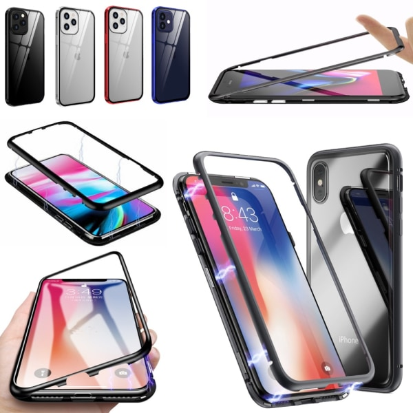 Qi magnet skal skydd fodral iPhone 11/12/SE Pro/ProMax/mini - Svart SE (2020)