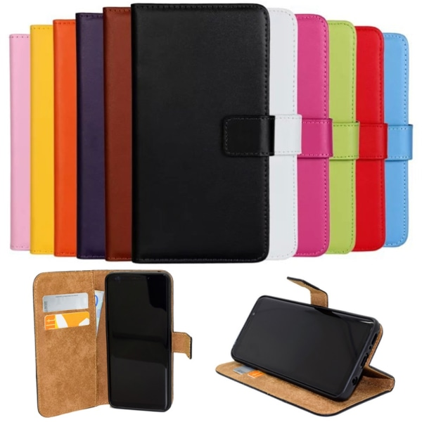 Samsung Galaxy A10/A40/A50/A70 plånbok skal fodral kort - Orange Samsung Galaxy A40