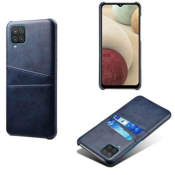 Samsung Galaxy A42 skal fodral skydd skinn kort visa amex - Svart A42