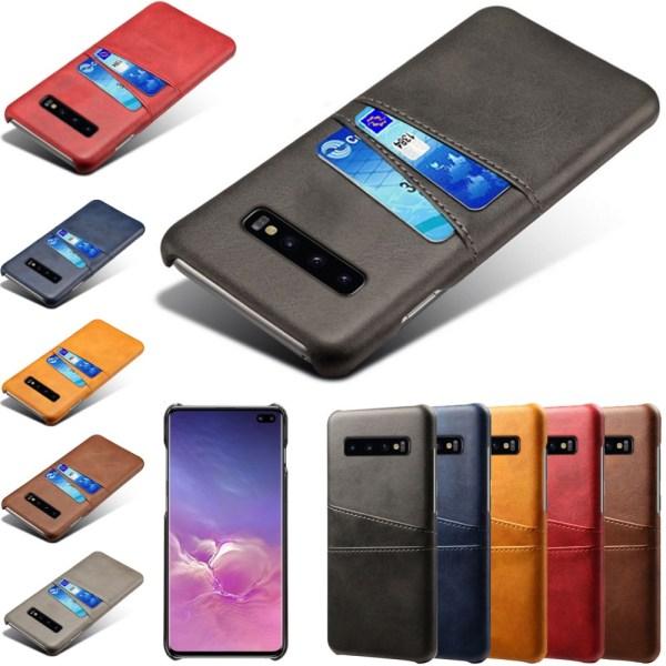 Samsung galaxy S10+ skal kort - Mörkbrun Samsung Galaxy S10+