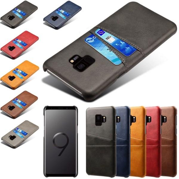 Samsung galaxy S9 skal kort - Mörkbrun Samsung Galaxy S9