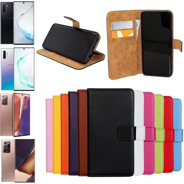 Samsung Note10/Note10+/Note20/Note20Ultra plånbok skal fodral - Cerise Note20