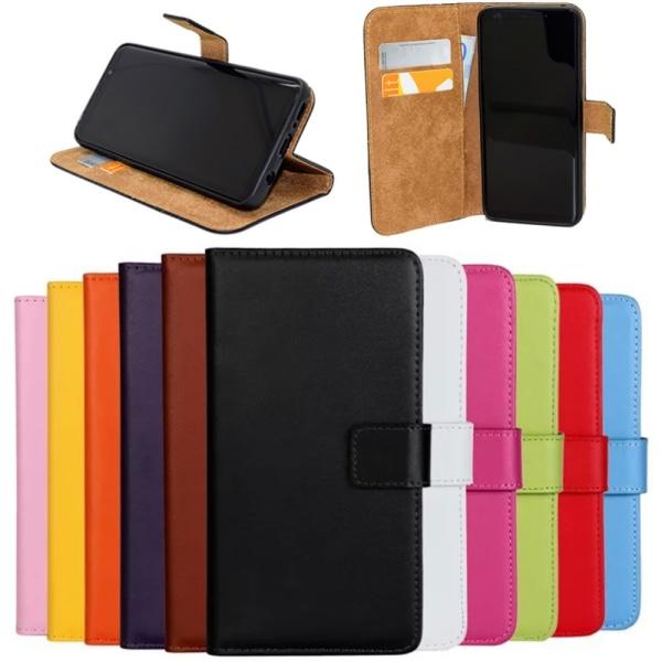 Samsung Note8/Samsung Note9/Samsung J6 plånbok skal fodral kort: Orange Samsung Galaxy Note9