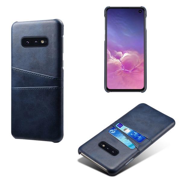 Samsung S10E skydd skal fodral skinn kort visa amex mastercard - Röd Samsung Galaxy S10E