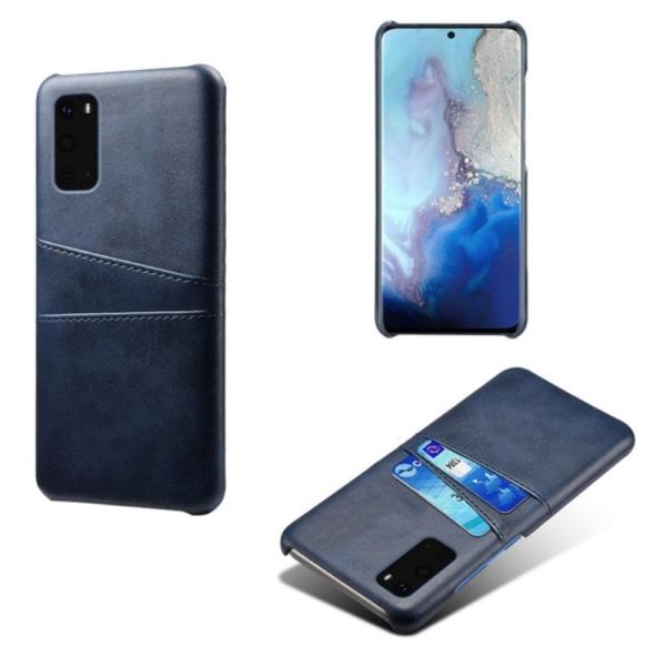 Samsung S20 Ultra skydd skal fodral skinn kort visa mastercard - Grå S20 Ultra