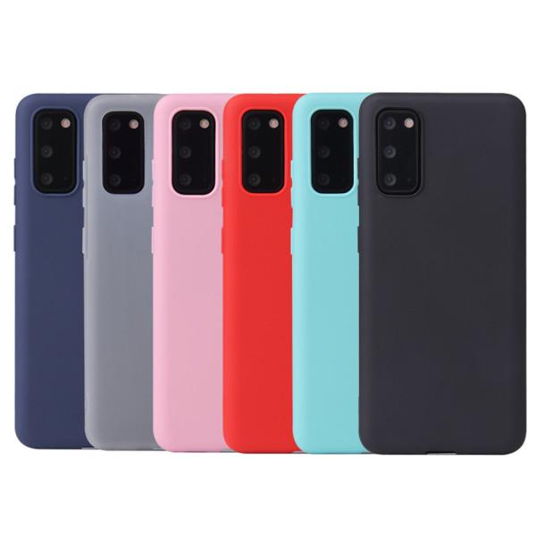 Silikon TPU skal Samsung S21/S20/S20FE Ultra/Plus fodral svart - Svart S21 Plus Galaxy Samsung